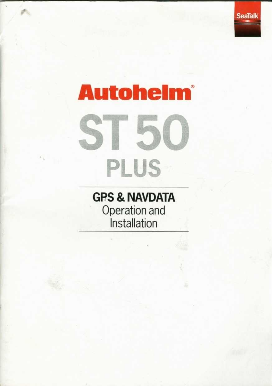 PDF manual for Raymarine GPS ST50