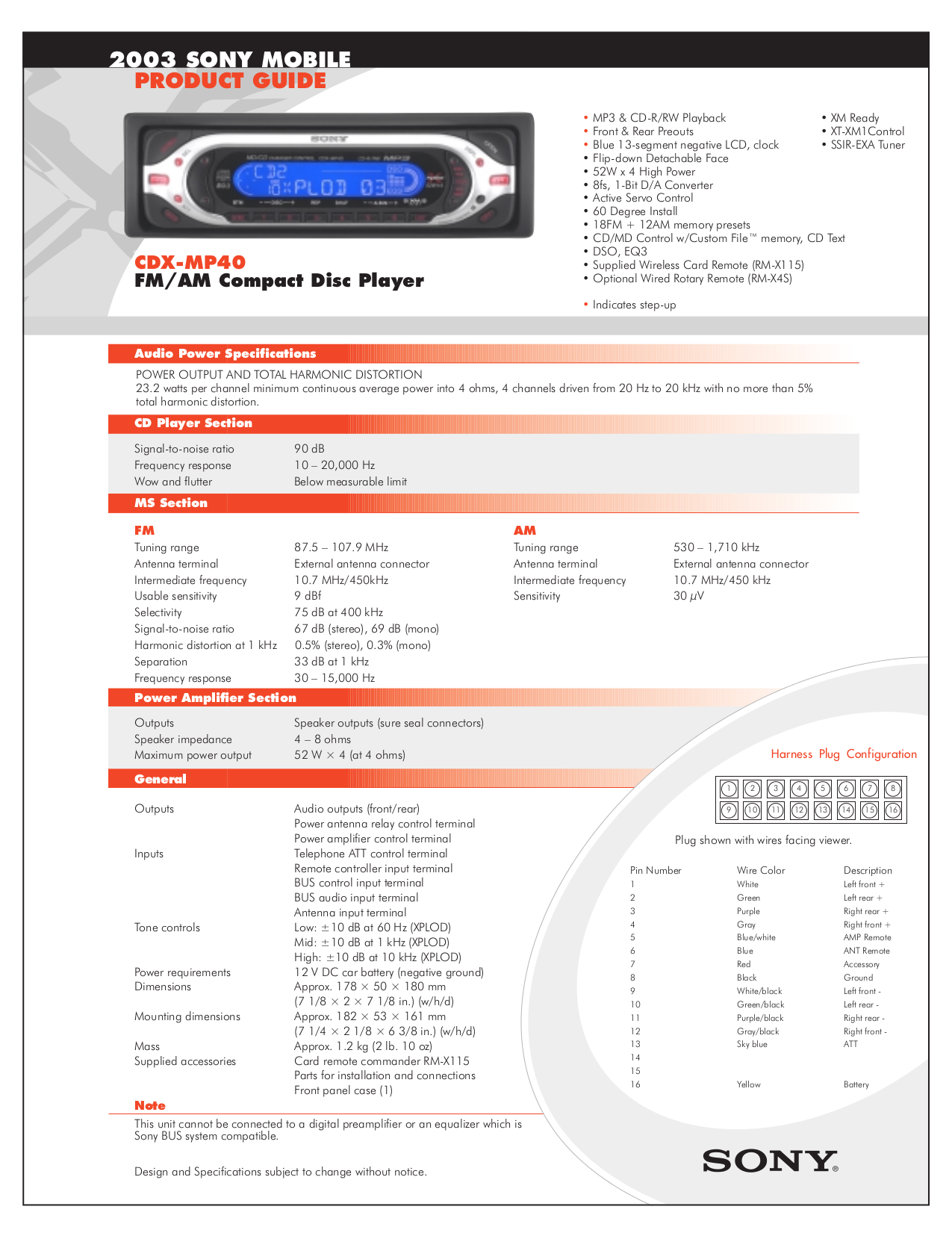 sony car stereo cdx gt260mp wiring diagram sony wiring diagram for sony cdx mp40 wiring diagram and schematic on sony car stereo cdx gt260mp