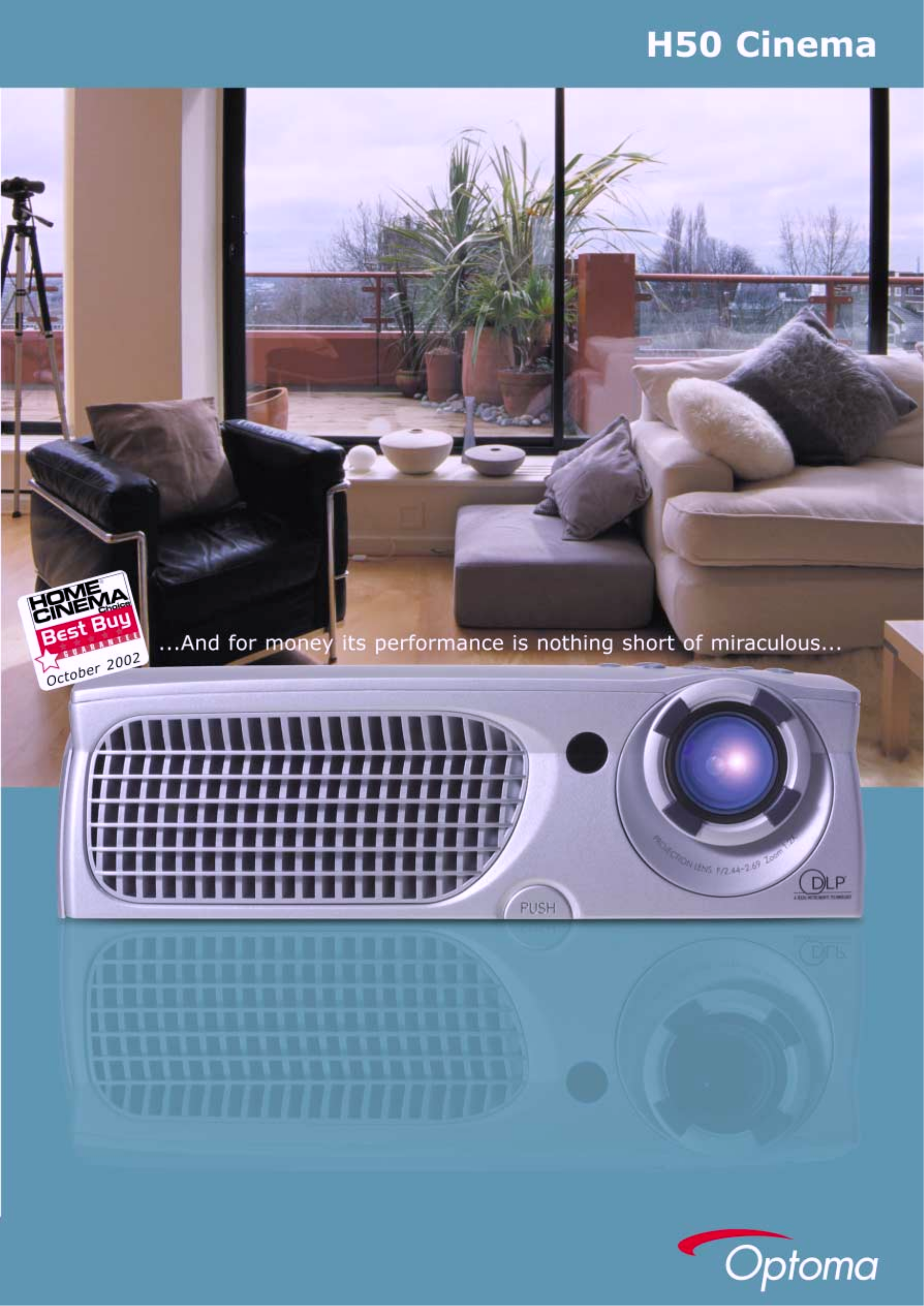 pdf for Optoma Projector H50 manual