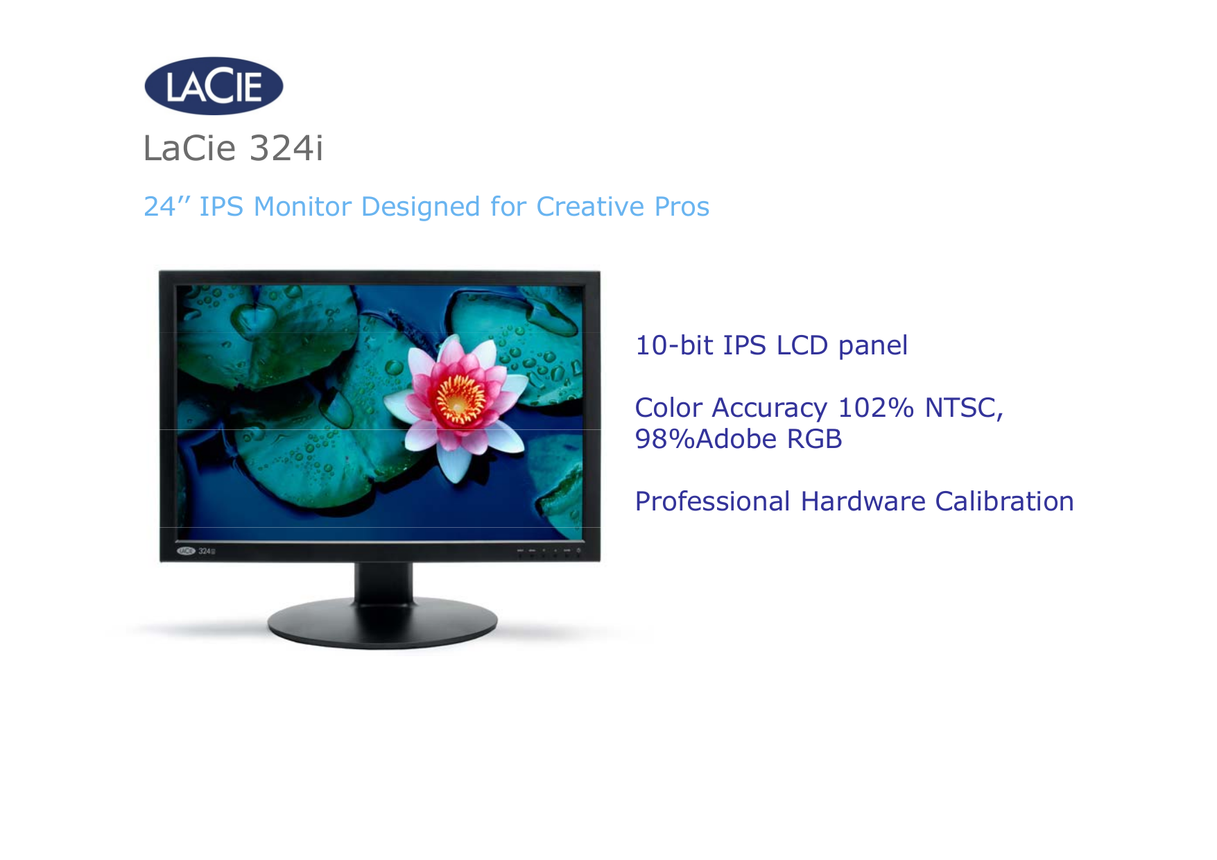pdf for LaCie Monitor 324I manual