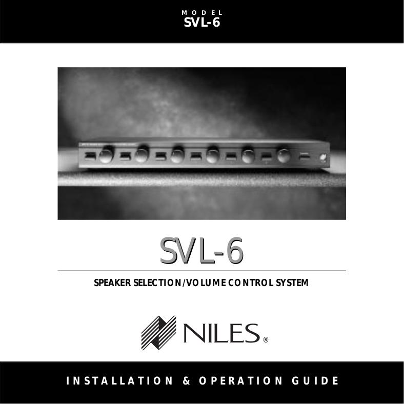 pdf for Niles Speaker AT8 manual