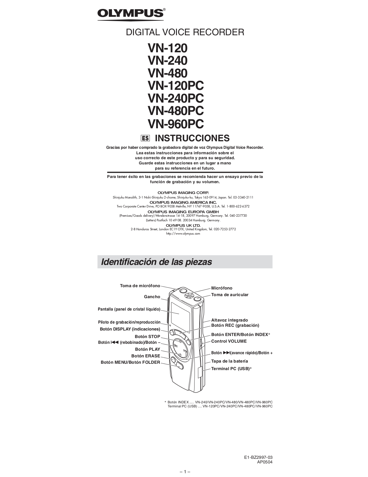 olympus voice recorder manual