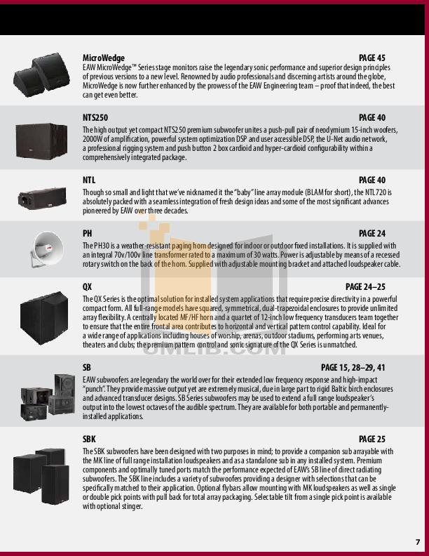 pdf manual for eaw speaker ub42 rh umlib com