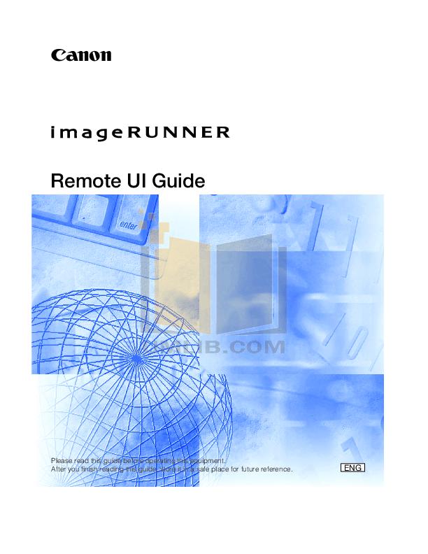 pdf for Canon Copier imageRUNNER 5020 manual