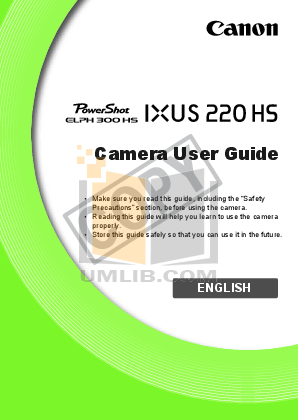 pdf for Canon Digital Camera IXUS 80 IS manual