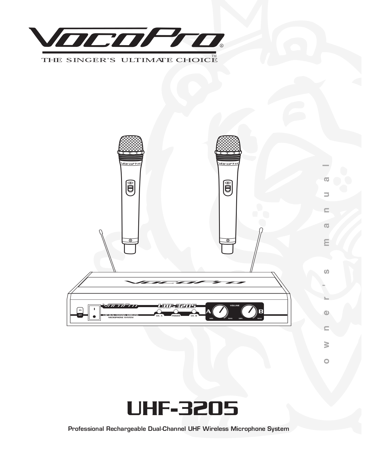 pdf for VocoPro Other UHF-3205 Wireless Microphone manual