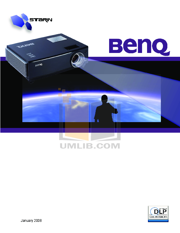 pdf for Benq Projector DX650 manual