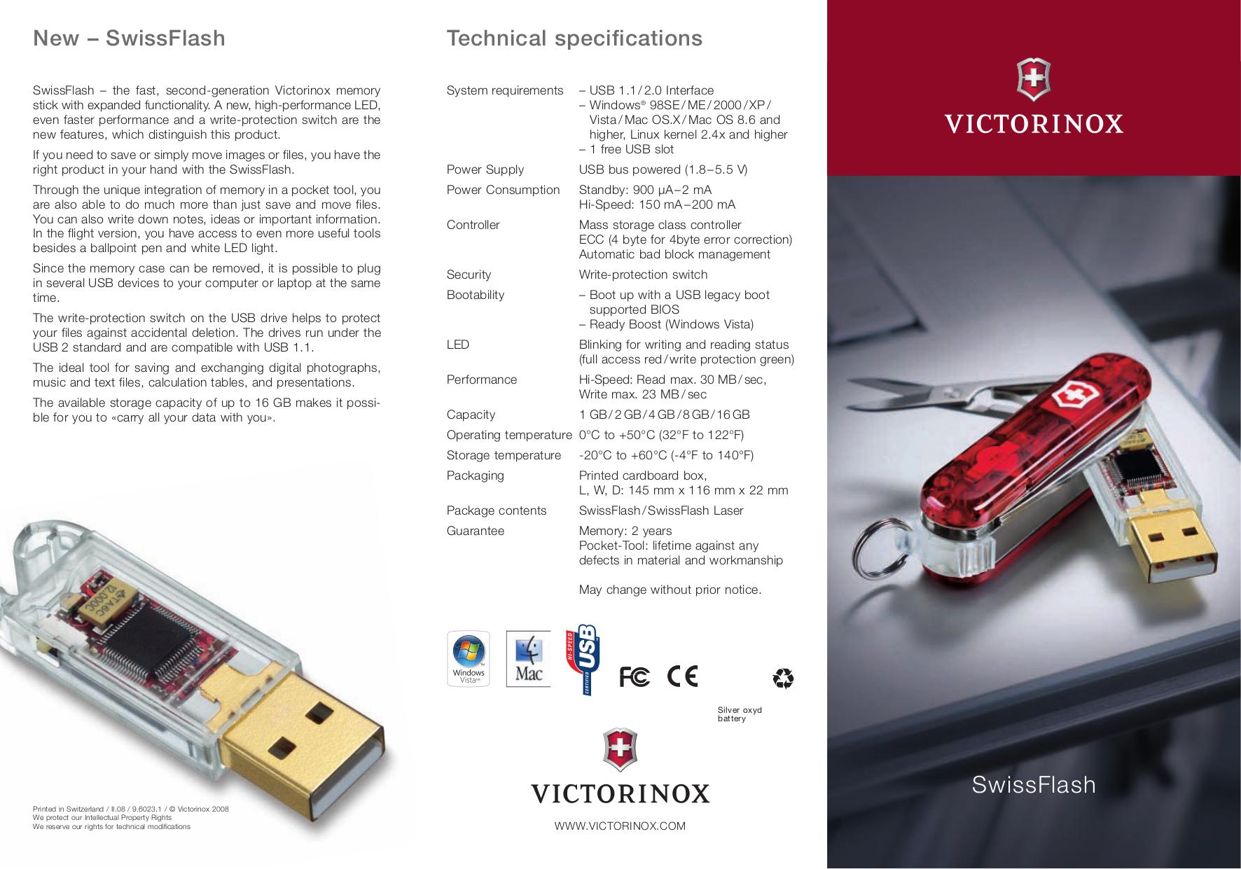 pdf for Victorinox Storage SwissFlash Flight SwissFlash Flight LED 8 manual