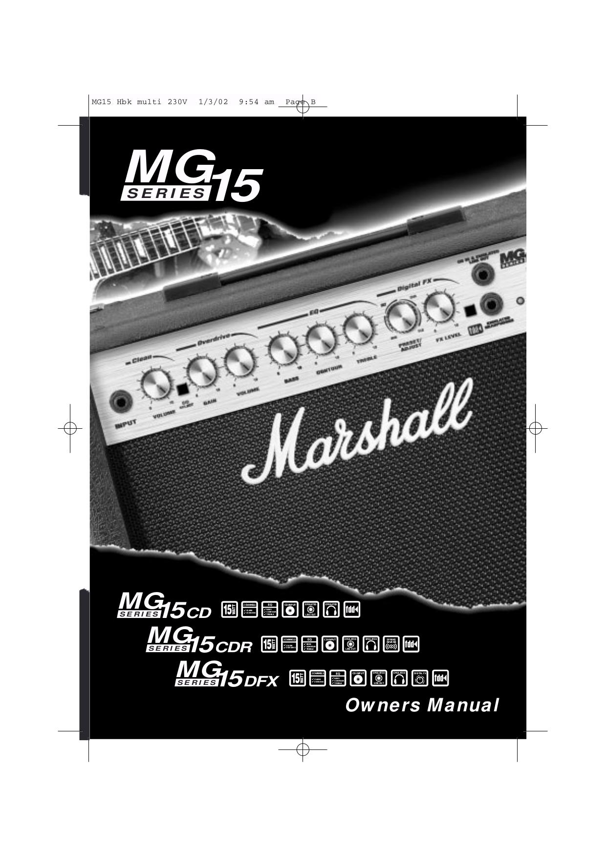 Download Free Pdf For Marshall Mg15cd Amp Manual Mg Cab Wiring Diagram