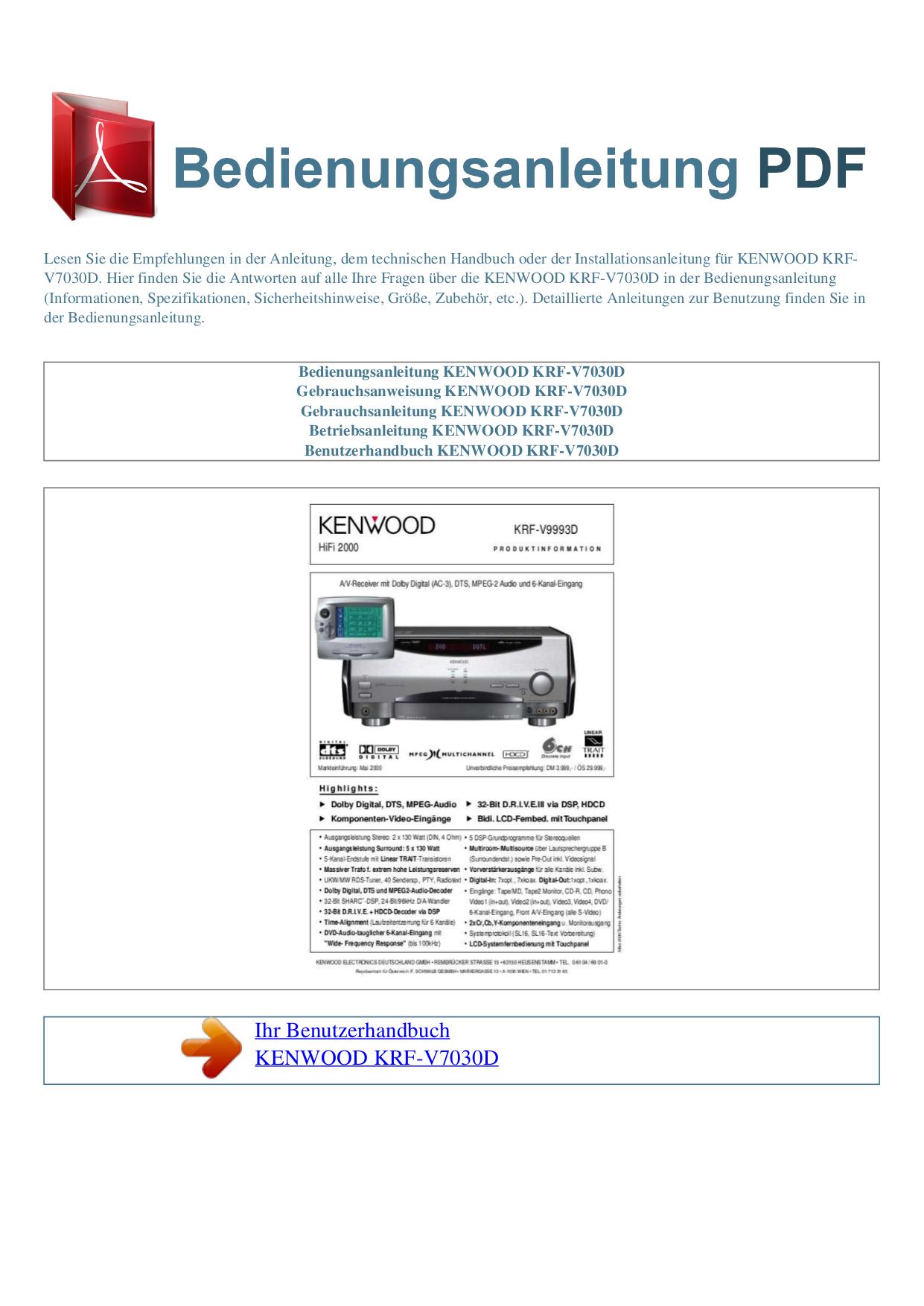 kenwood 5030d схема