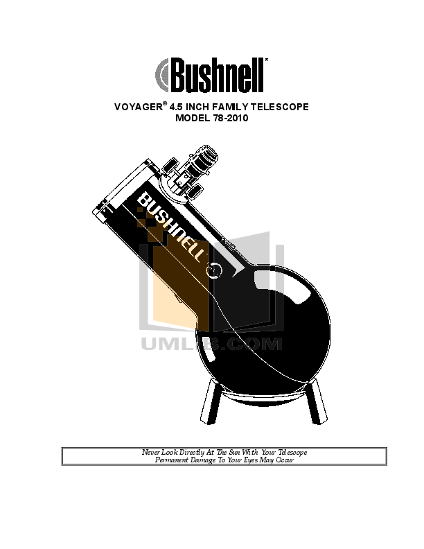 pdf for Bushnell Telescope 78-2010 manual