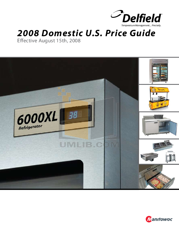 pdf for Delfield Refrigerator Shelleyspeed SPR-40E manual