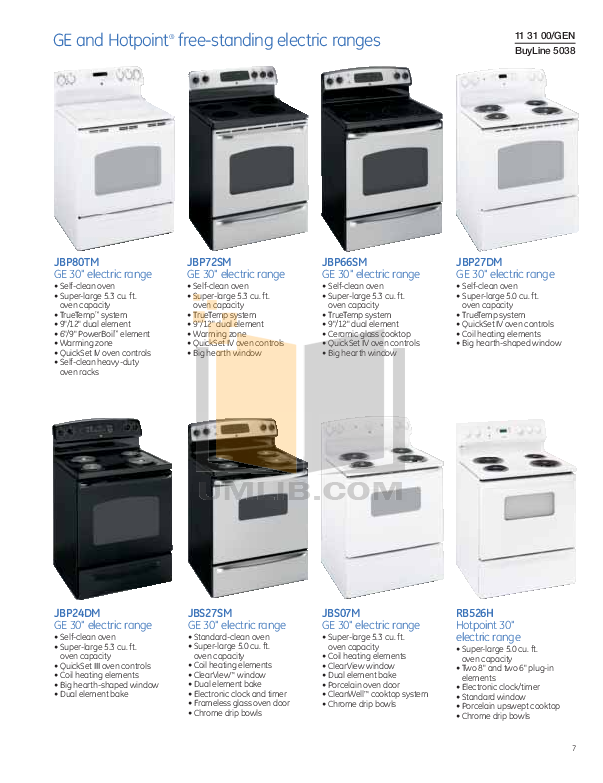 Hotpoint Range RB526H pdf page preview