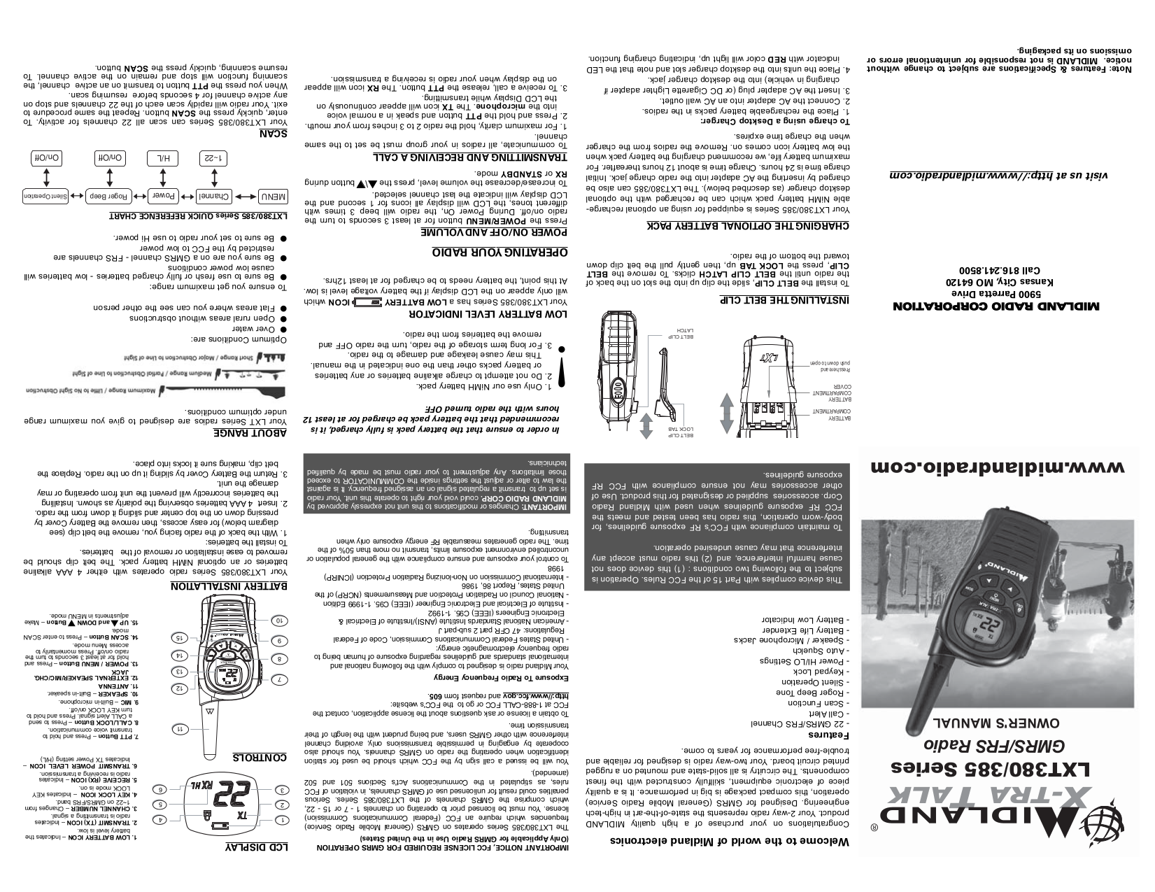 pdf for Uniden 2-way Radio GMRS380-2 manual
