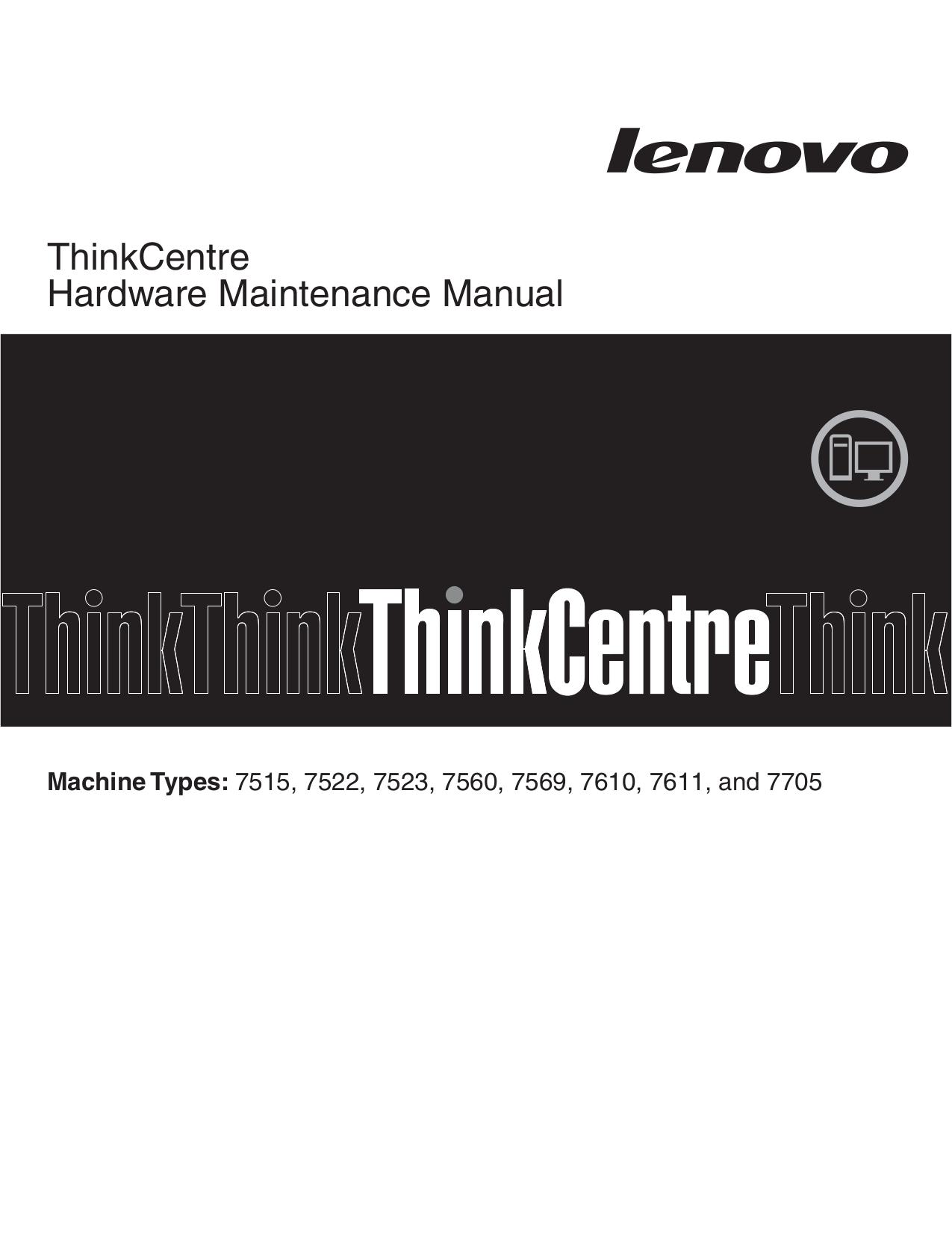 pdf for Lenovo Desktop ThinkCentre A58 7515 manual