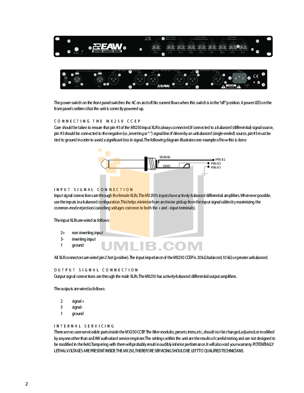 Eaw Speaker System MS103 pdf page preview