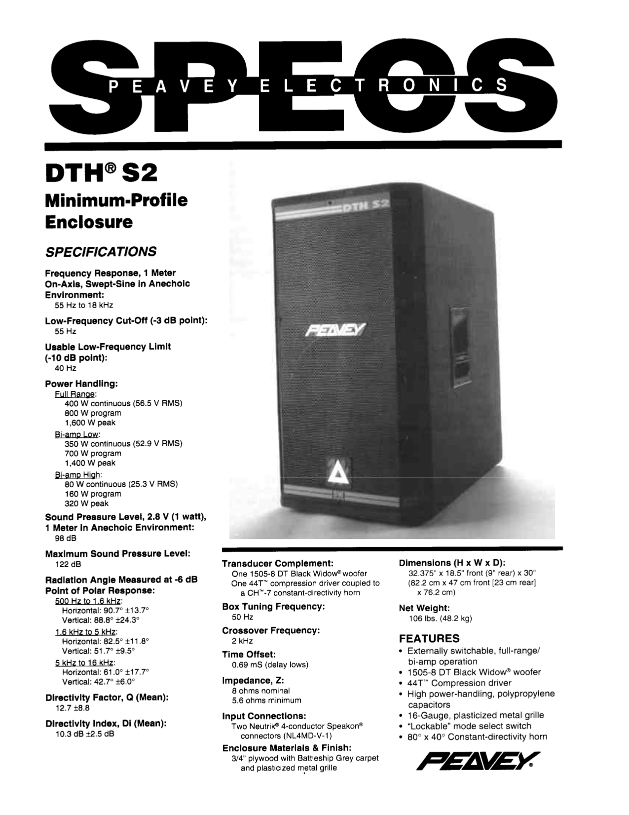 download free pdf for peavey dth s2 speaker manual rh umlib com peavey speaker manual peavey 215 speaker manual