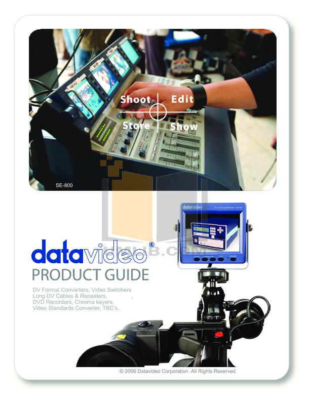 pdf for Datavideo Other STC-100 Digital Video coverter manual