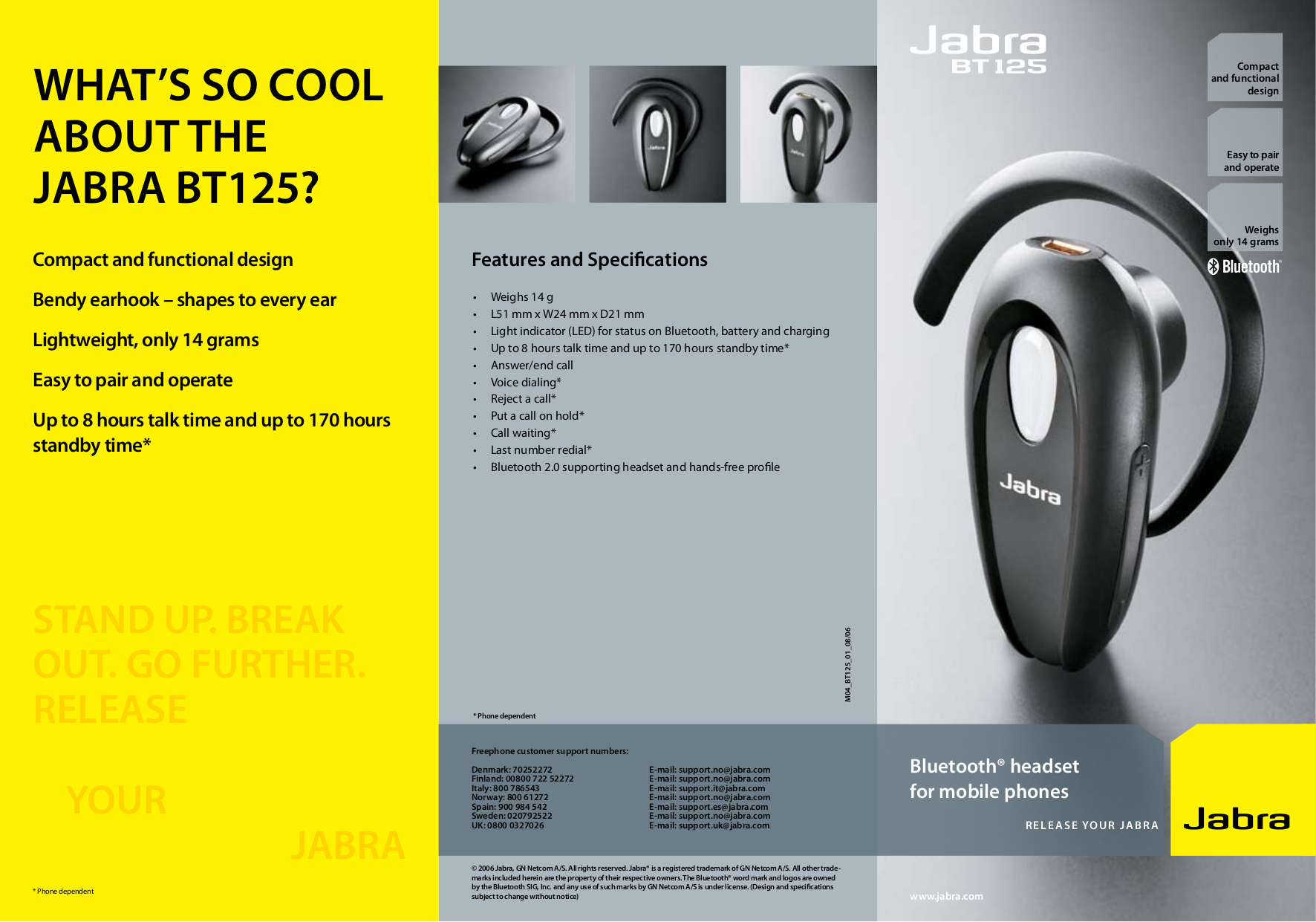 download free pdf for jabra bt125 headset manual rh umlib com jabra bt125 pairing Jabra BT530