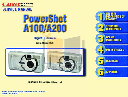 pdf for Canon Digital Camera Powershot Pro70 manual