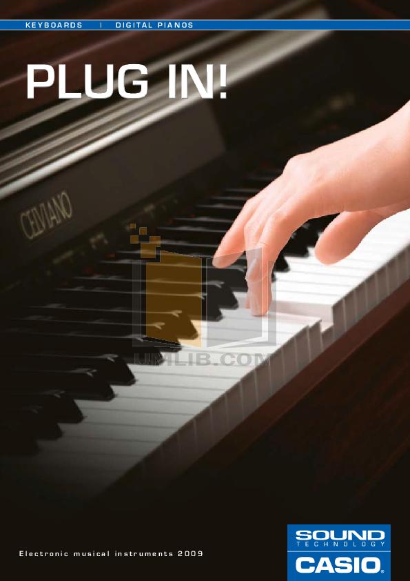 pdf for Casio Music Keyboard WK-3000 manual