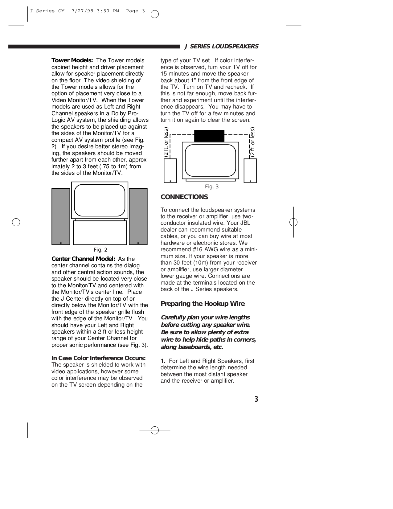 pdf manual for jbl speaker j1000mv