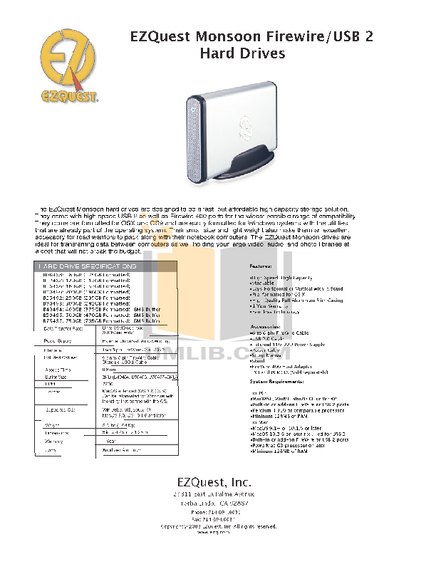 pdf for Ezquest Storage Monsoon B08468 manual