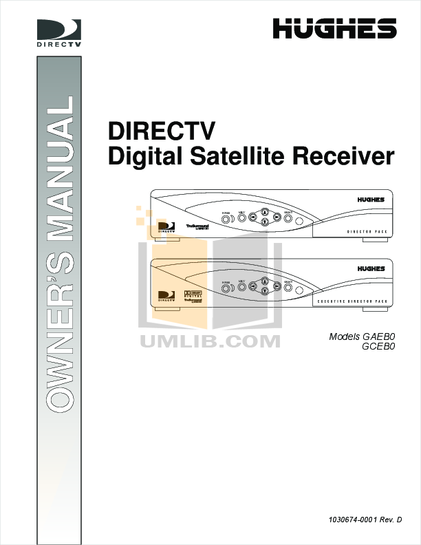 pdf for DirecTV Other GCEB0 DirecTV Receiver manual