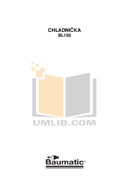 pdf for Baumatic Freezer BL150 manual