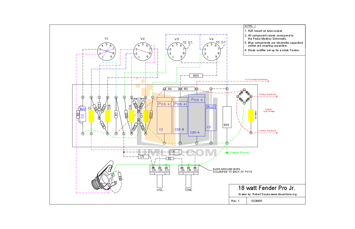 Fender Blues Junior Wiring Diagram Schematic Diagrams Limited Edition For Light Iii Circuit
