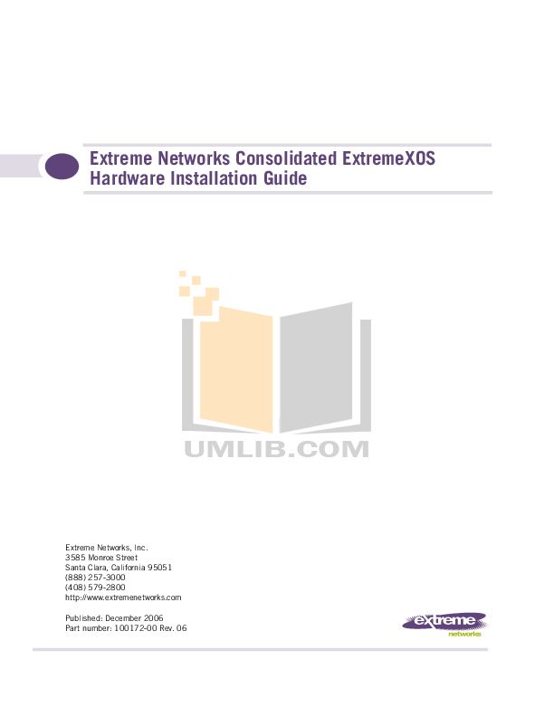 pdf for Extreme Other GBIC Network-Accessory manual