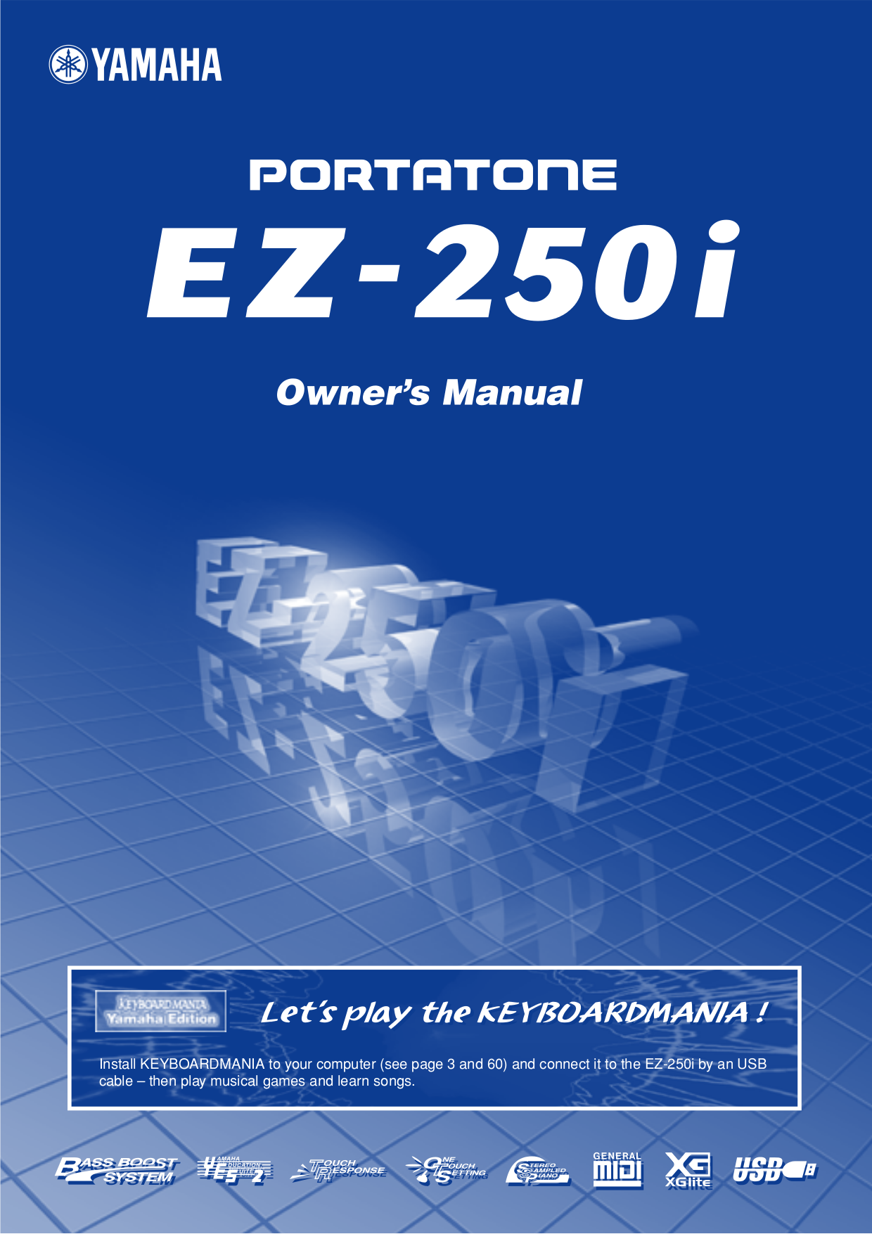 pdf for Yamaha Music Keyboard CP-60M manual