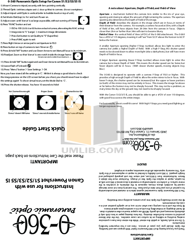 pdf for Canon Digital Camera Powershot S2 IS manual