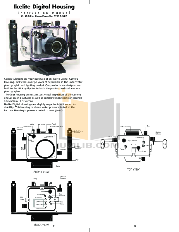 Canon Digital Camera Powershot S2 IS pdf page preview