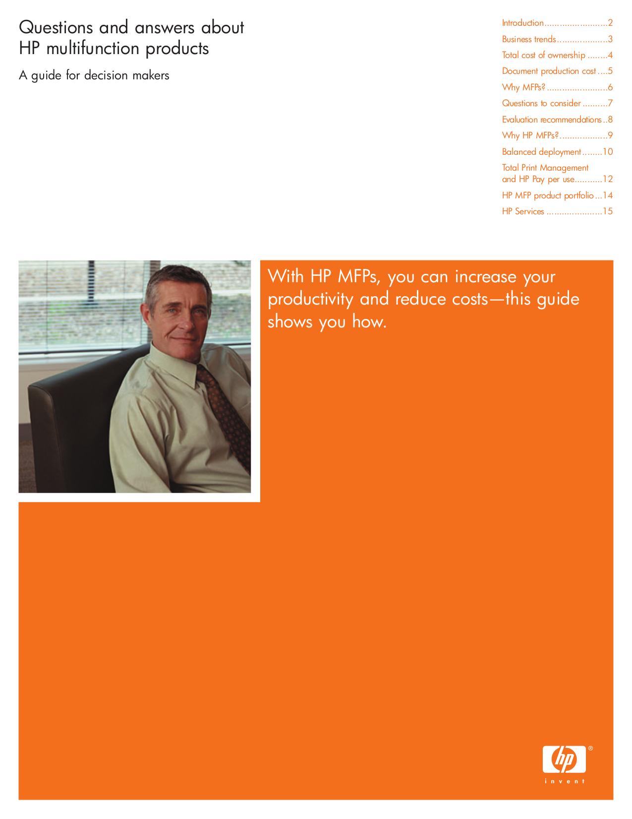 pdf for HP Multifunction Printer Laserjet,Color Laserjet 4100 MFP manual