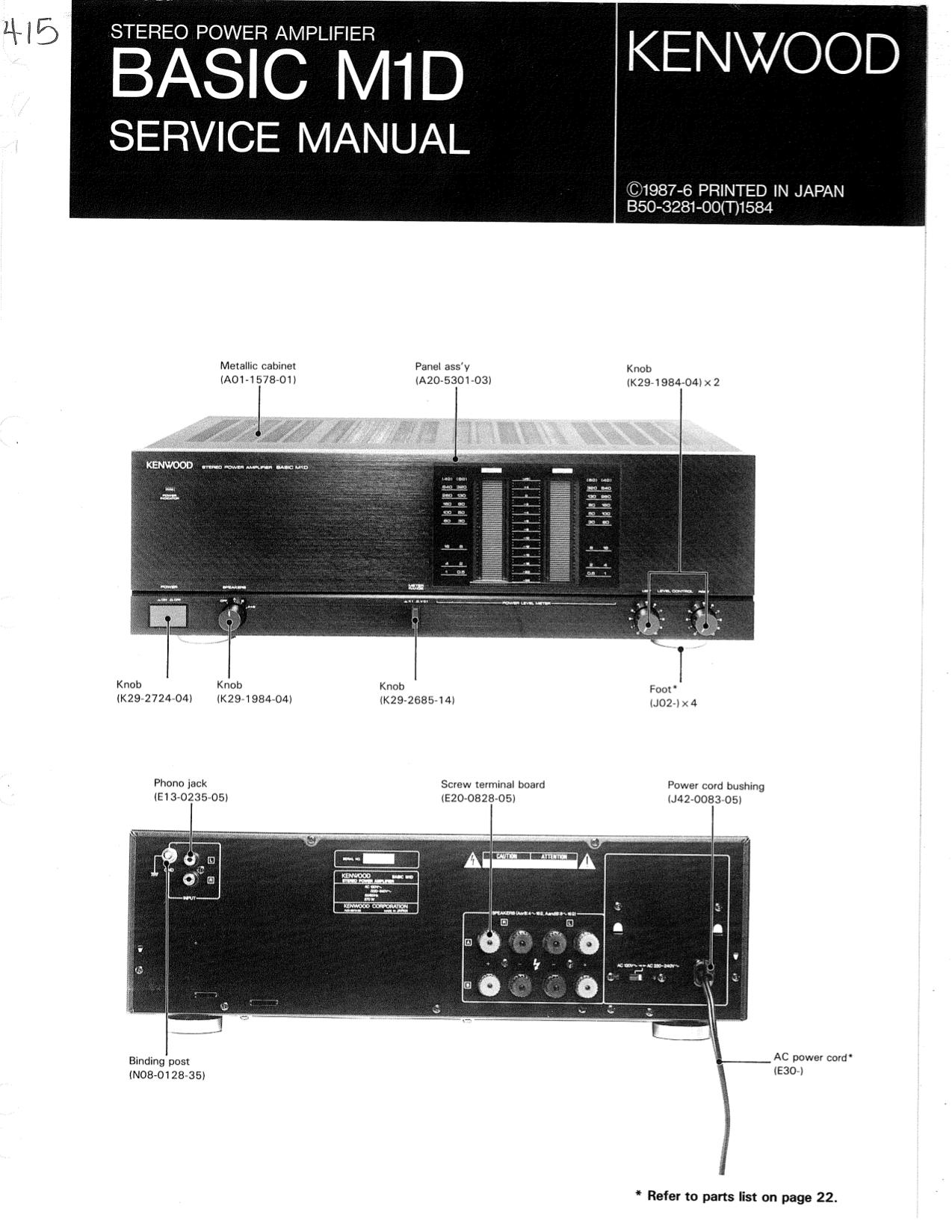 download free pdf for kenwood basic m1d amp manual rh umlib com kenwood amp manual for km-106 kenwood a85 amplifier manual