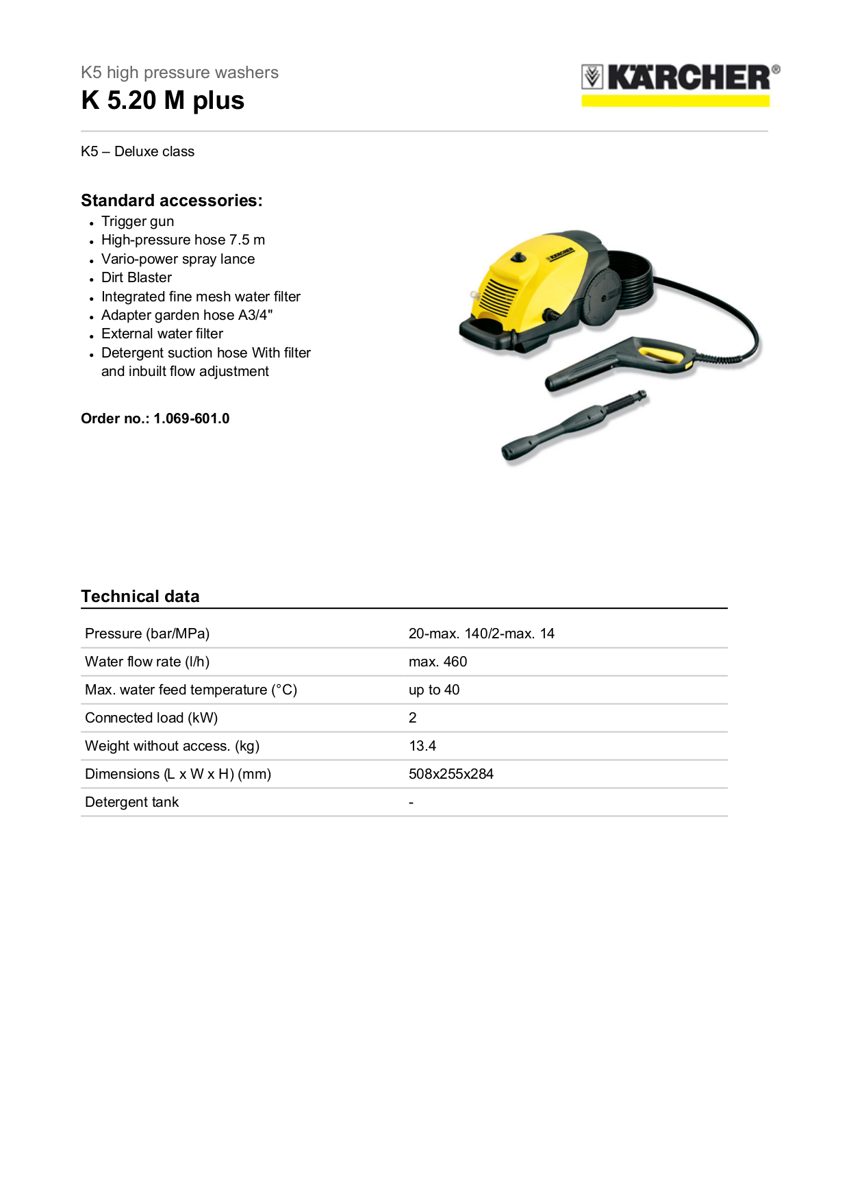 pdf for Karcher Other K 520 M Pressure Washers manual