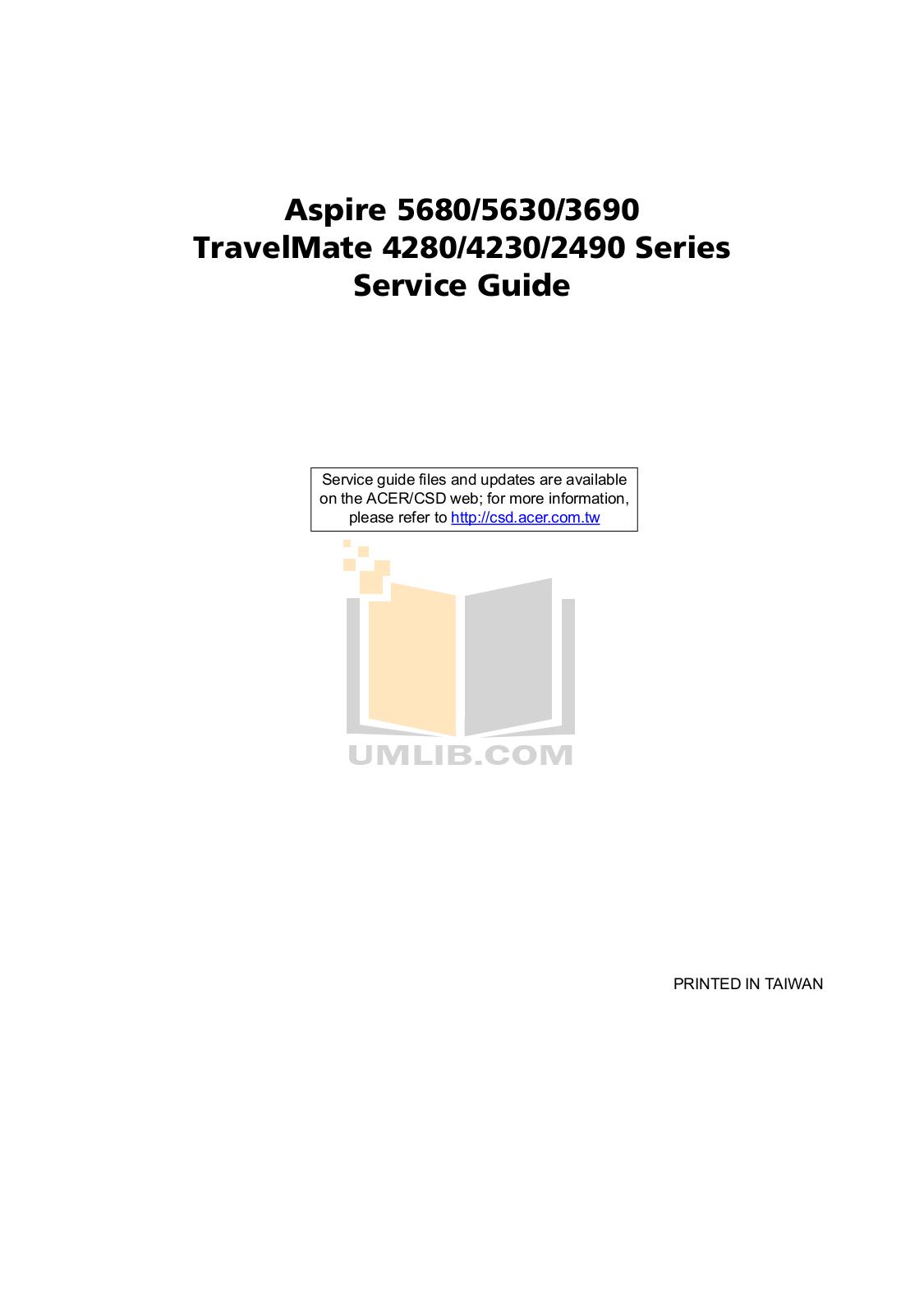 pdf for Acer Laptop Extensa 4230 manual