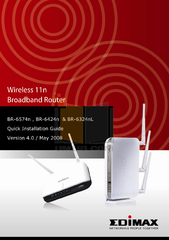 pdf for Edimax Wireless Router BR-6424n manual