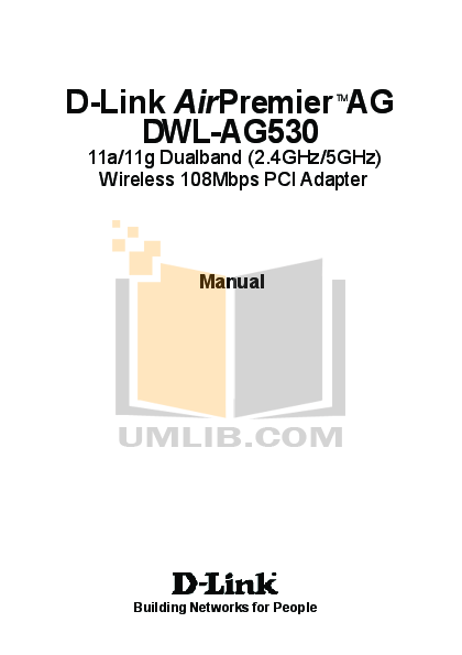 pdf for D-link Other DWL-AG530 manual
