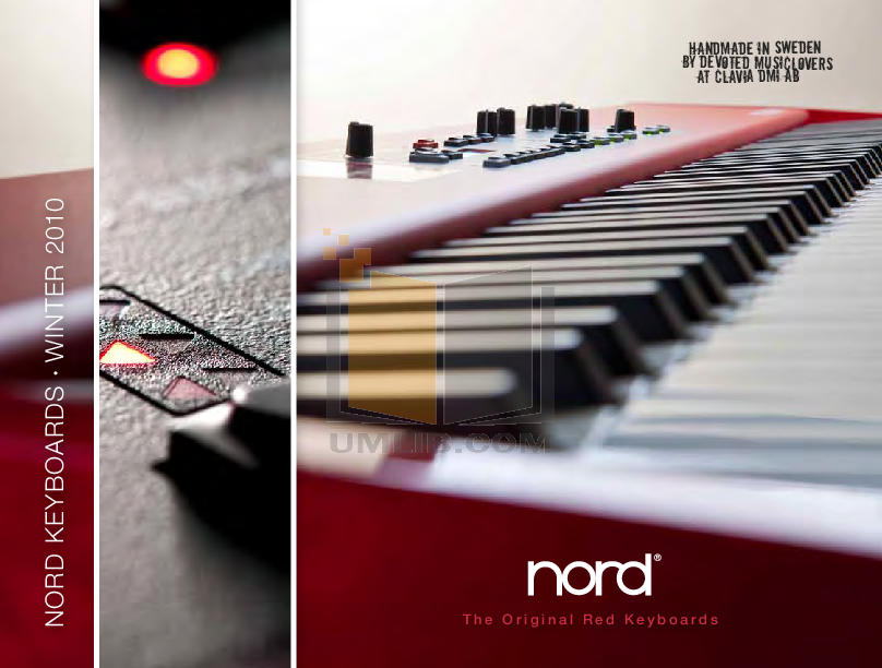 pdf for Clavia Music Keyboard Nord Wave manual