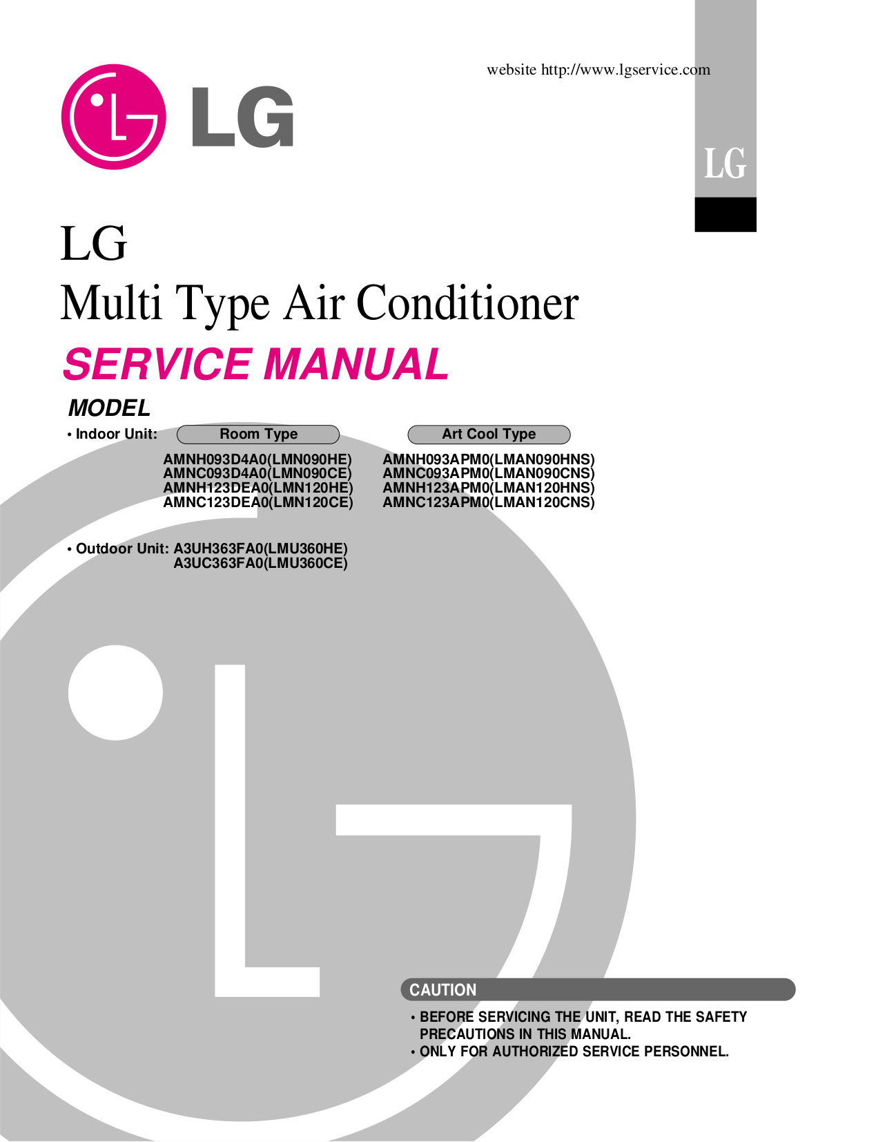 pdf manual for lg air conditioner lmu360ce. Black Bedroom Furniture Sets. Home Design Ideas