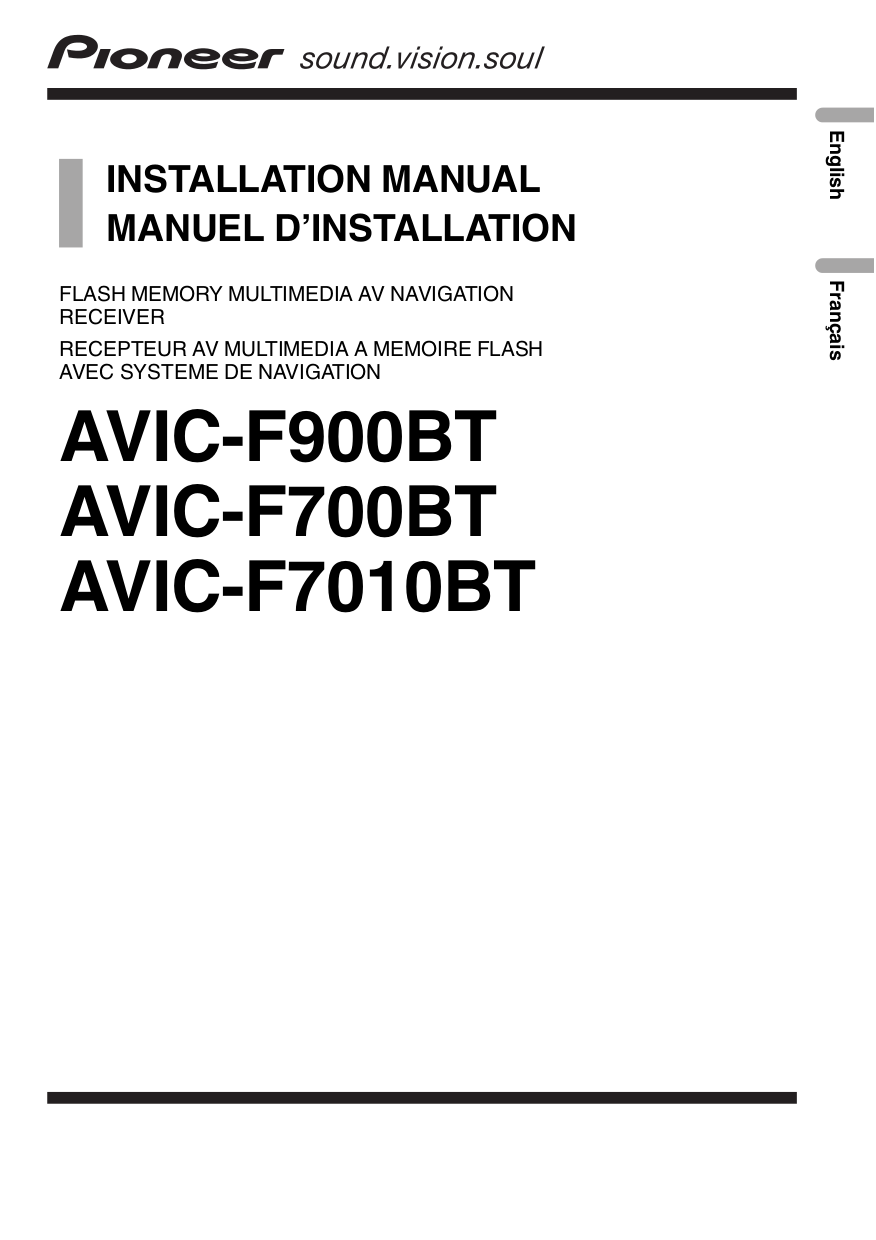 download free pdf for pioneer avic f700bt gps manual