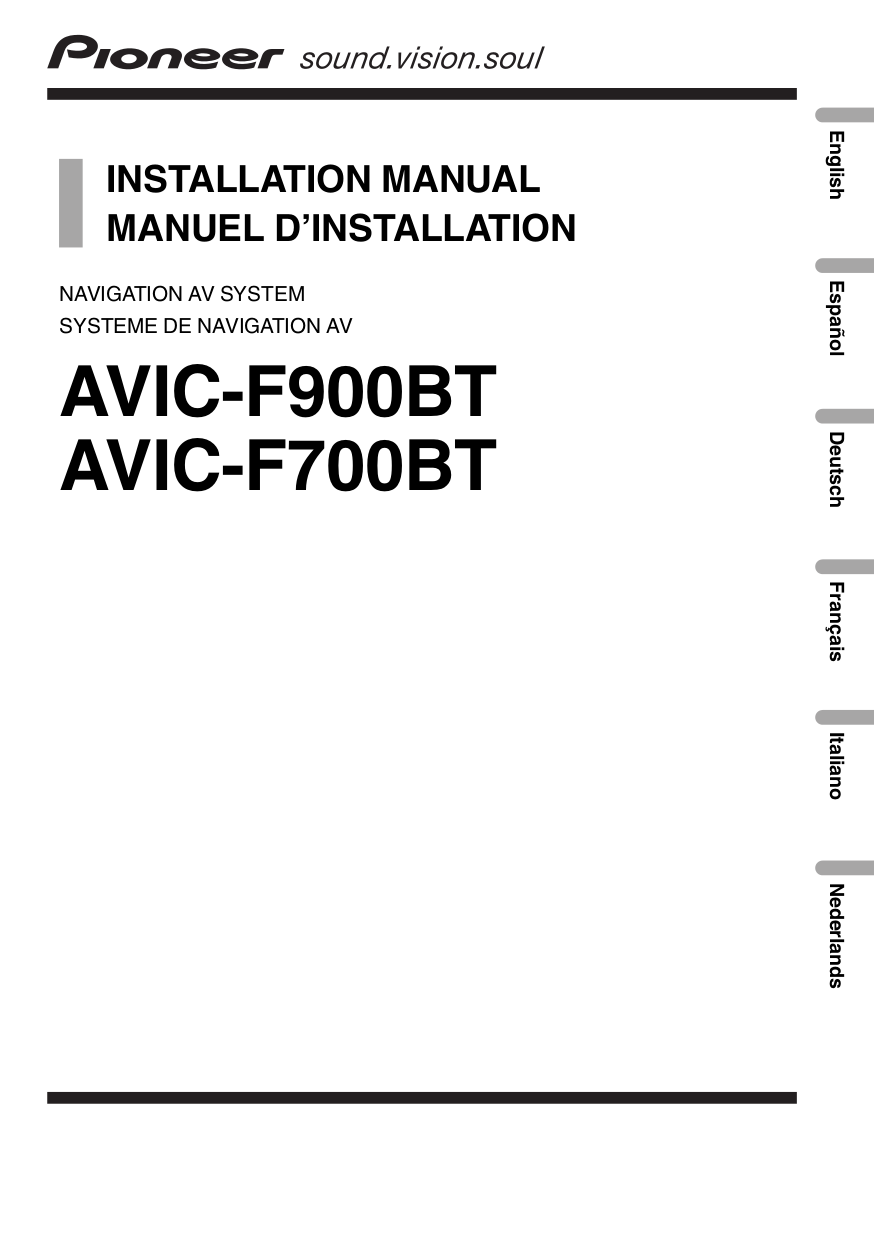 pdf for pioneer gps avic-f700bt manual