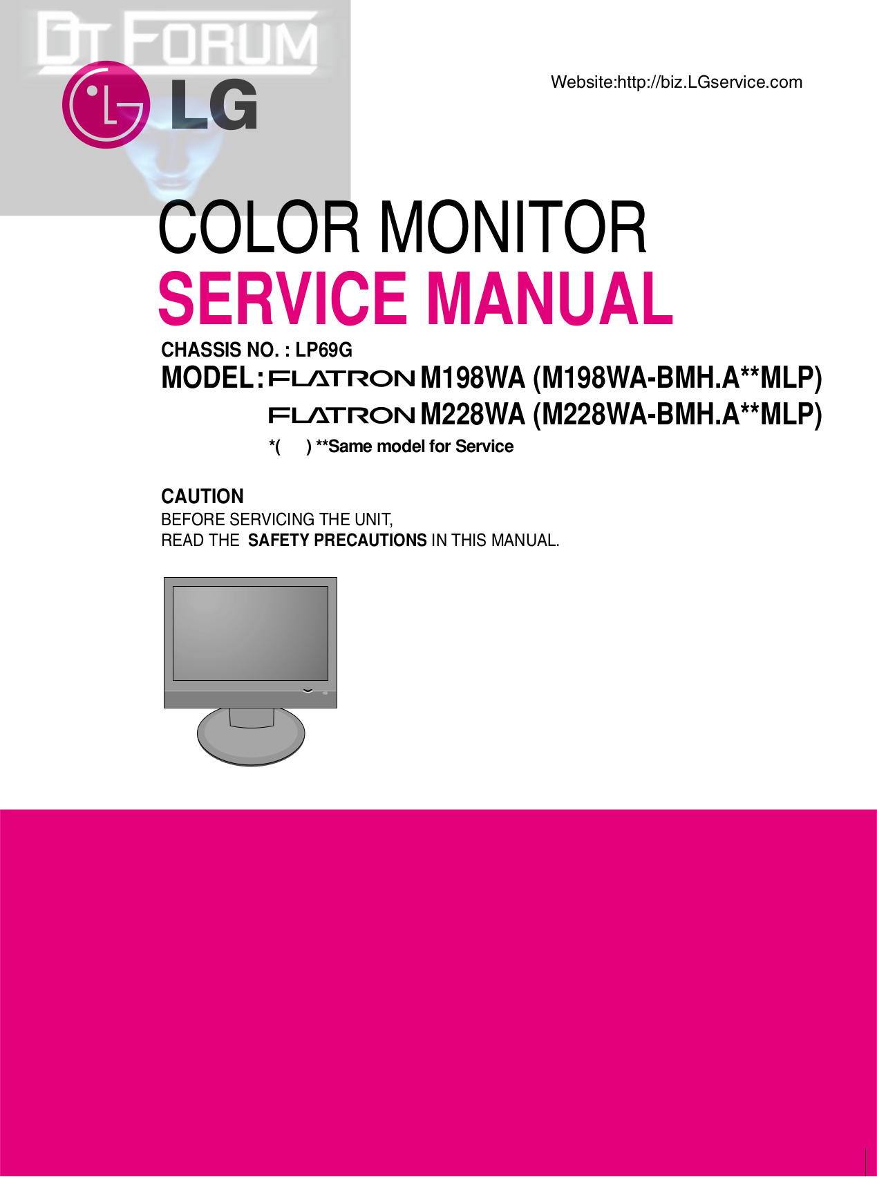 pdf for LG Monitor M228WD manual