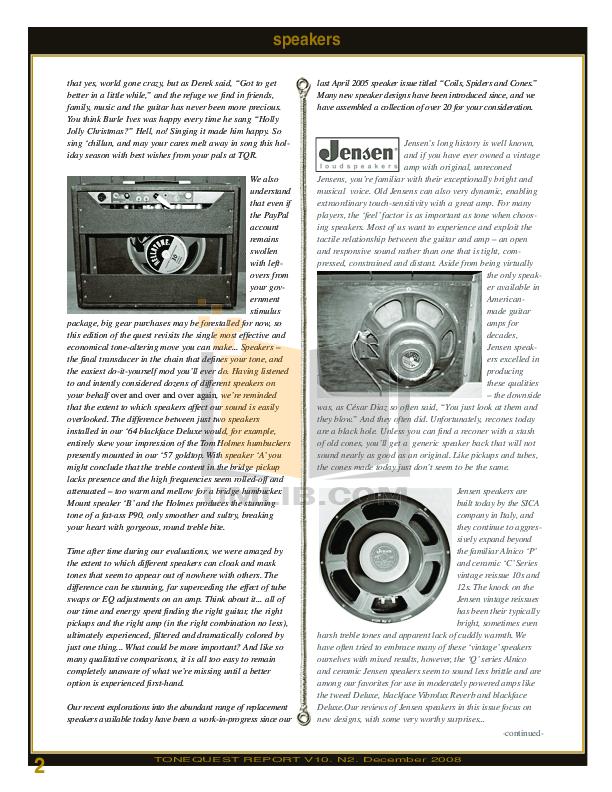 PDF manual for Celestion Speaker ALNICO Celestion Gold