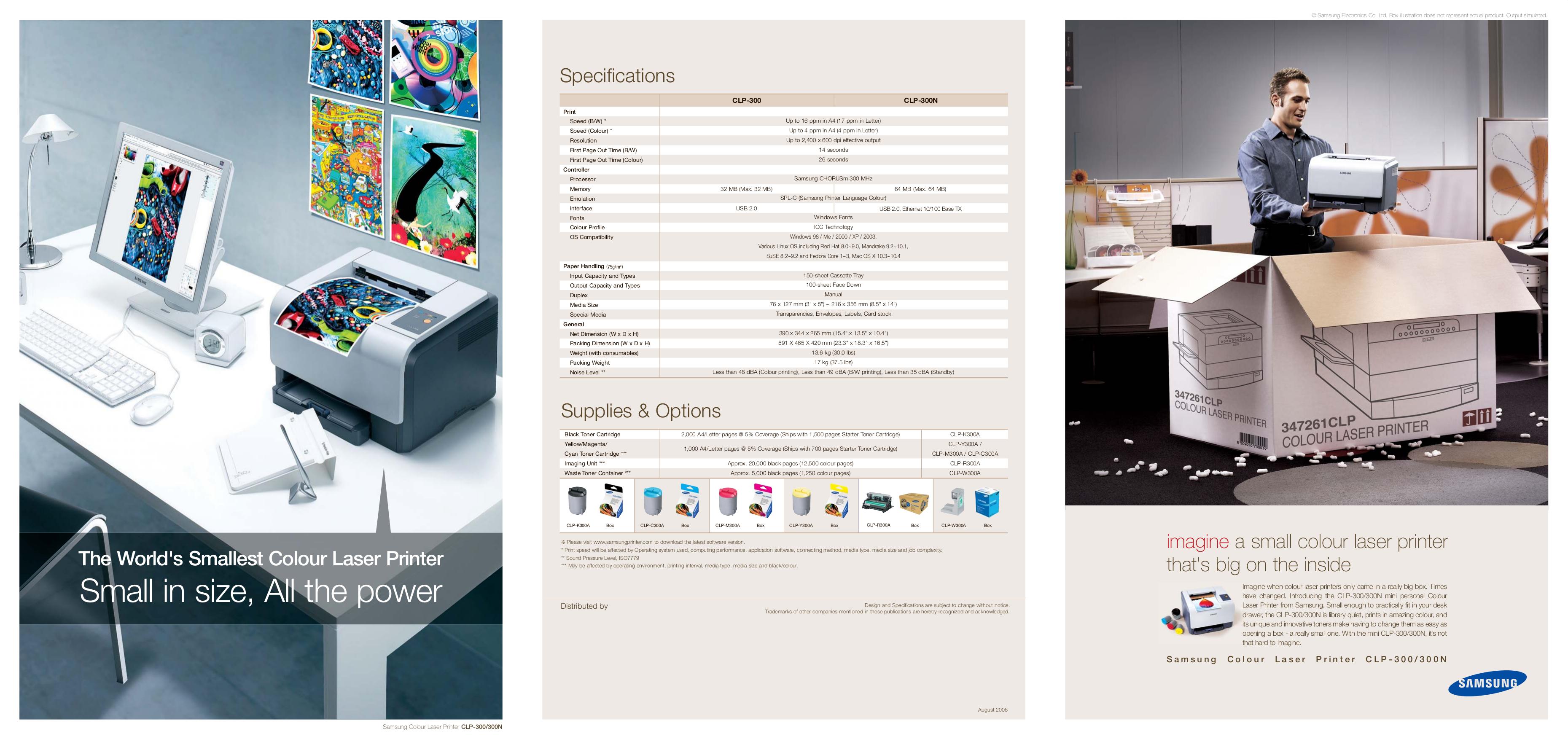 pdf for Samsung Printer CLP-300N manual