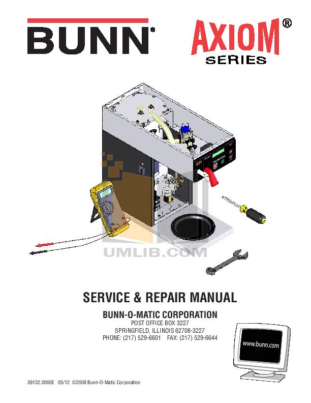 Bunn Coffee Maker Service Manual : Download free pdf for Bunn CDBC Coffee Maker manual
