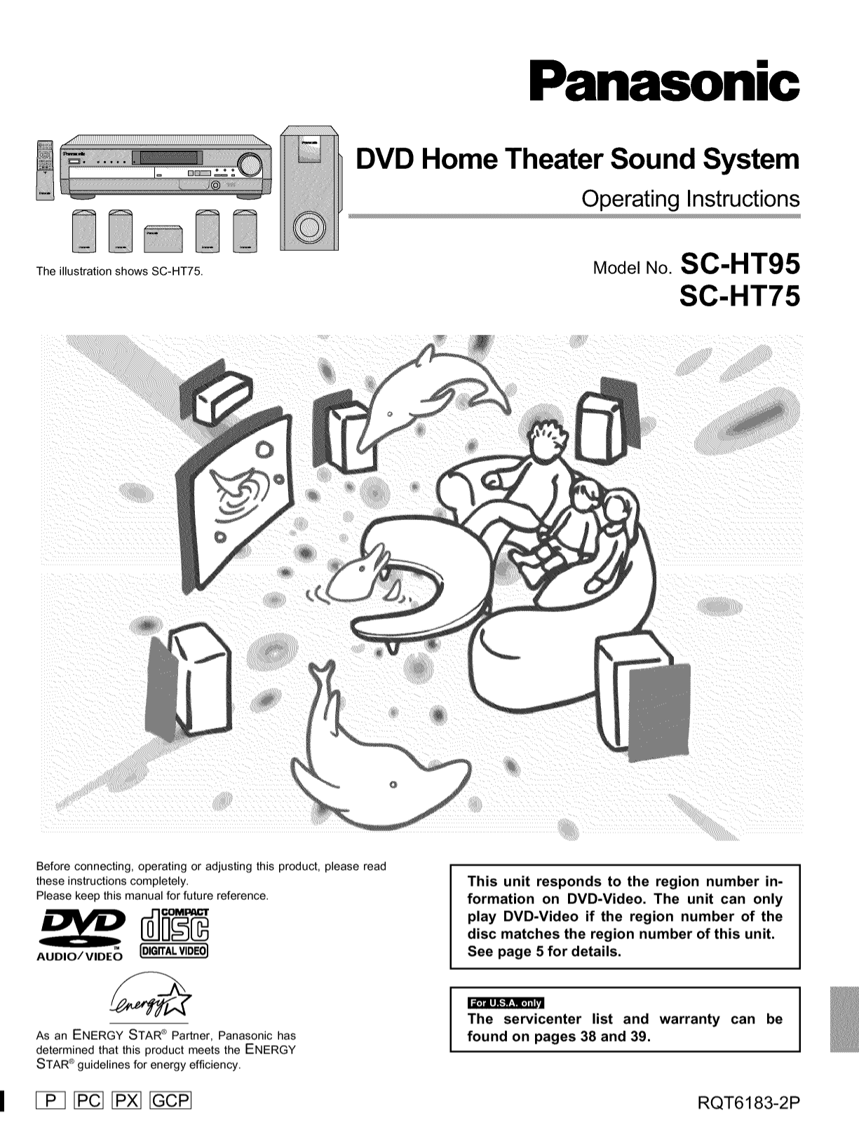 download free pdf for panasonic sa ht75 home theater manual rh umlib com panasonic dvd home theater sound system sa-ht 75 manual panasonic sc-ht75 service manual