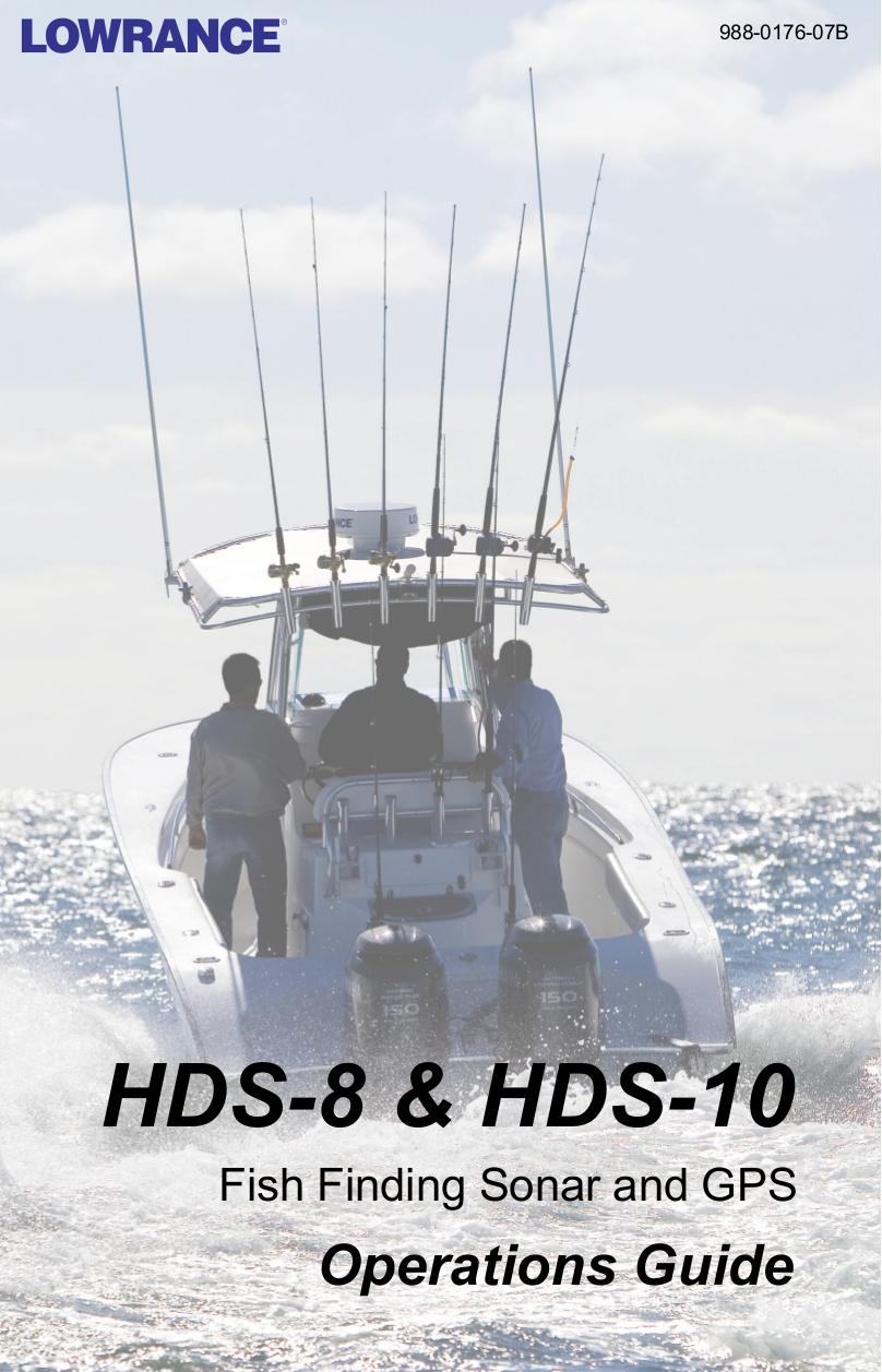 pdf for Lowrance GPS HDS-8 manual